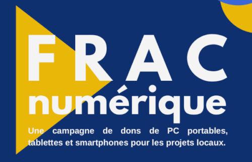 FRAC Numérique : une campagne de don de matériel informatique pour soutenir les projets locaux